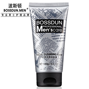 波斯顿 舒爽洁净洁面膏100g 男士洗面奶 深层清洁 温和不紧绷